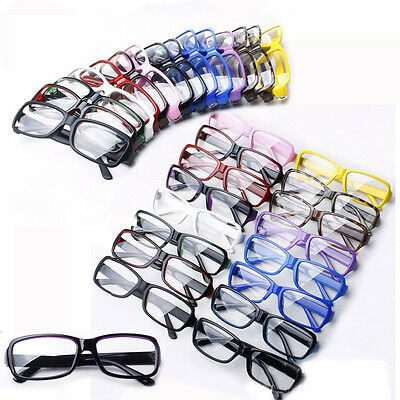 CLEAR LENS COLOR NERD GLASSES OPTICAL Clear Resin Plastic Frame Fashion