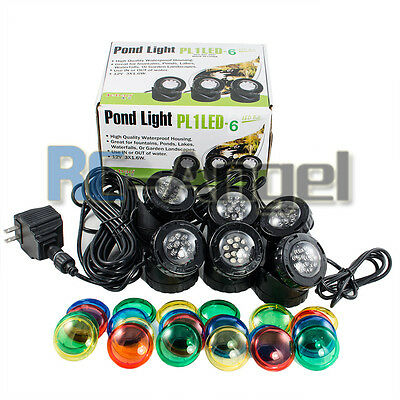 Set of 6 Jebao LED Underwater Deco Spot Pond Fountain Garden Light Super Bright