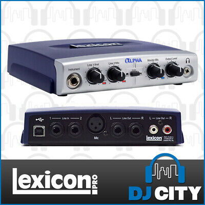 Lexicon Alpha Audio Recording Interface with Cubase Multitrack Software