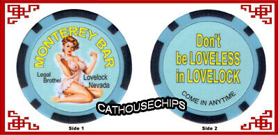 Monterey Bar Lovelock, Nevada Brothel Collectors Chip ** Cathouse **