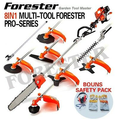 NEW 62cc Brushcutter Hedge Trimmer Snipper Whipper Pole Chainsaw Brush Cutter
