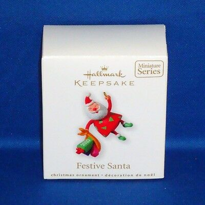 Hallmark - 2010 - Festive Santa #2 - Miniature - Keepsake Christmas Ornament NEW