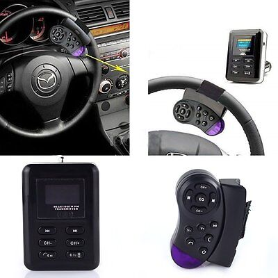 Bluetooth Car Kit FM Transmitter MP3 Player Steering Wheel USB/SD/MMC Handsfree