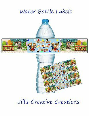 Daniel Tiger Water Bottle Labels, Daniel Tiger Birthday, Party Supplies,