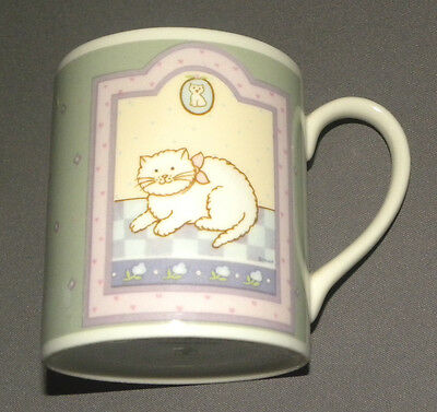 Vintage 1980's Cat Themed Porcelain Mug Cup Spooky and his Friends Frasier Japan