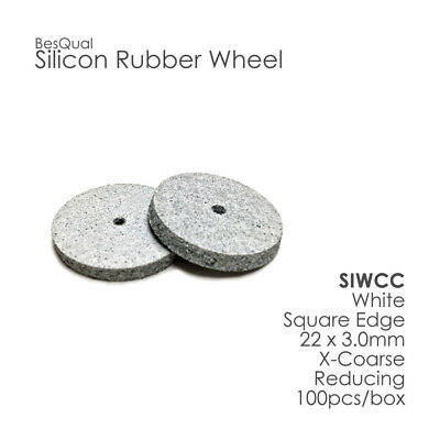 Silicone Polishers Wheel White Coarse Besqual 100/Box for porcelain and metals