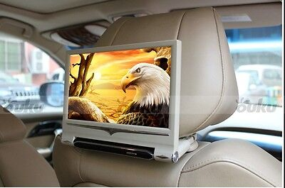 "9"" HD Digital LCD TouchScreen Car Headrest Monitor USB/SD IR/FM Black/Beige/Gray"