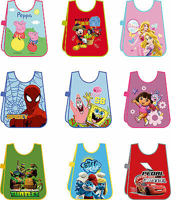 Disney Peppa Pig Kids Tabard Apron Bib Waterproof Plastic Craft Painting School
