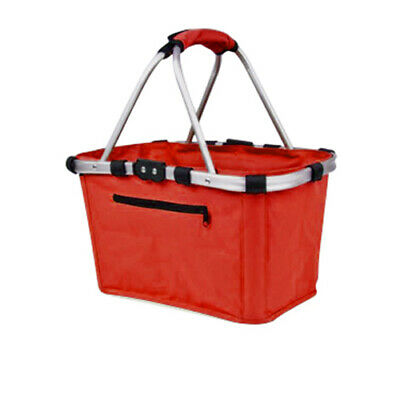 NEW Shop & Go Carry Basket Double Handle Red (RRP $30)