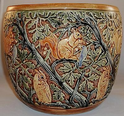 Weller  'Selma' Jardinere/Vase with Squirrels, Owls and Blue Birds!