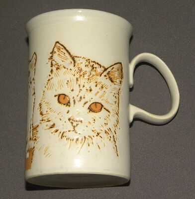 Vintage 1980's Cat Themed Porcelain Mug Cup Scotland