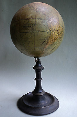 "Antique Table Top 6"" World / Terrestrial Globe by J. Schedler -1868 Patent"