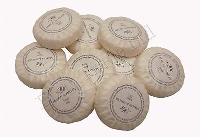 10 x 15g Travel Pocket Size Smal Guest Bath Soap Tissue Pleated Round Circle