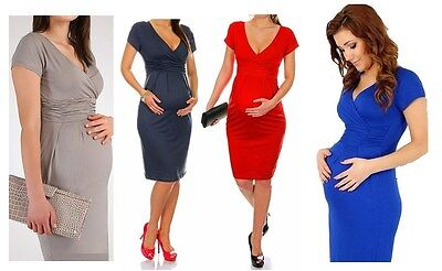 Maternity Evening dress,pregnant Maternity Party office wear 8,10,12,14,16,18,20