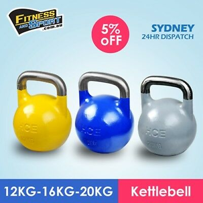 NEW Competition Kettlebell 12KG 16KG 20KG Fitness Gym Strength Training Gear