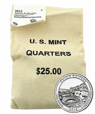 2012 Chaco Cultural National Historical Park Quarter - SF - $25 US Mint Bag
