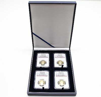 Leatherette Display Box For 4 Coin Slabs Pcgs Or Ngc