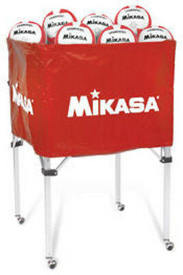 Mikasa Indoor Volleyball Ball Carts Classic Collapsible Volleyball Cart Scarlet