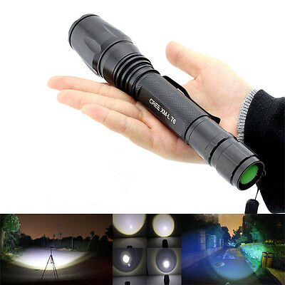New 2000Lm UltraFire CREE XM-L T6 LED Zoomable Focus 18650 Flashlight Torch USA