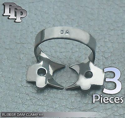 3 Endodontic Rubber Dam Clamp #14A Surgical Dental Instruments