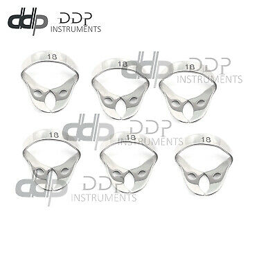 6 Endodontic Rubber Dam Clamp #18 Surgical Dental Instruments
