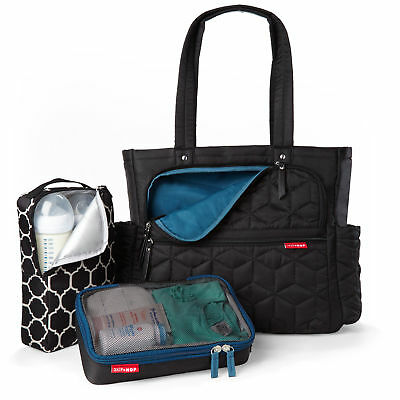 New Skip Hop Forma Pack & Go Nappy Diaper Baby Bag - Black Skiphop Sh203000