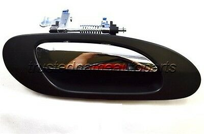 for Acura Outside Outer Exterior Door Handle Rear Right Passenger Black Chrome
