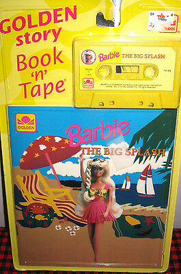 "NEW+SEALED~BARBIE GOLDEN STORY~BOOK N TAPE~Barbie -TM ""The Big Splash""~VERY RARE"