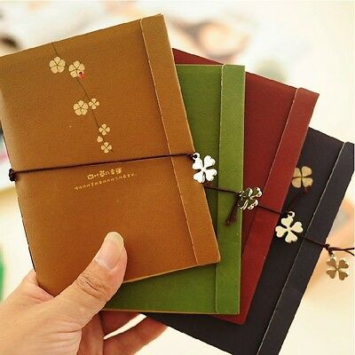 """""""Four Leaf Clover"""" Pack of 4 Tiny Pocket Diary Study Notebook Cute Planner Memo"""