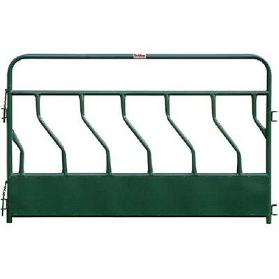 "NEW! Hay Feeder Panel With S-Bar 6 Feeding Spaces 96""L x 2""W, Green!!"