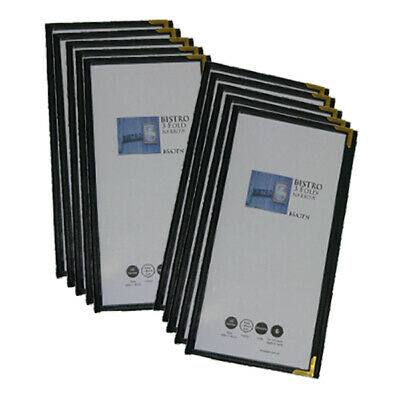 Narrow Cafe Menu Folders With 3 Pockets Pack Of 10