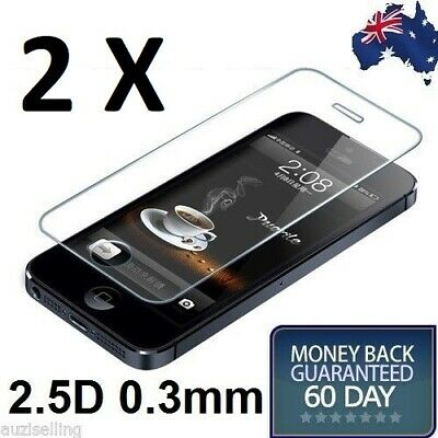 iPhone 5S 5 5C Tempered Glass Screen Protector Film Guard Touch Sensitive Clear