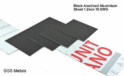 Black Anodised Aluminium Sheet 1.2 mm Guillotine Cut Sheet Metal Arts & Crafts