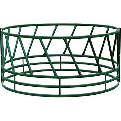 "Heavy Duty Bale Feeder W/ Eight Diagonals Per Section 96""Lx96""Wx46""H, Green"