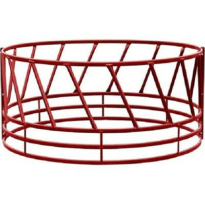 """Heavy Duty Bale Feeder W/ Eight Diagonals Per Section 96""""Lx96""""Wx46""""H, Red"""