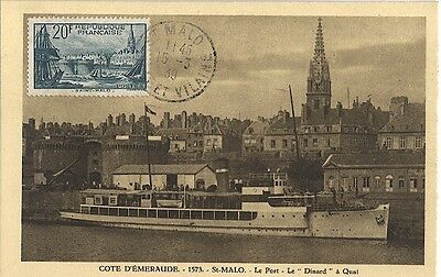 Carte-maximum France n° 394 - Saint-Malo (26187)
