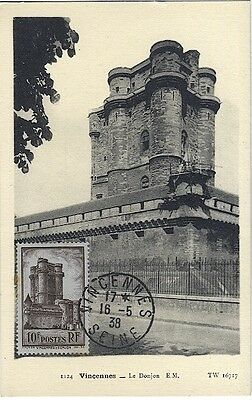 Carte-maximum France n° 393 -  Le Donjon de Vincennes (26185)