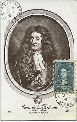 Carte-maximum France n° 397 - Jean de la Fontaine (26180)