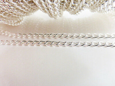 2 Metres x Iron Twist Chain 5mm x 3mm Silver Colour, NF LF Chains Findings