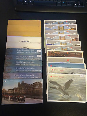 22 Canada Proof-Like, Uncirculated Sets, Lot of 22 Sets! 1968 to 1988 and 1993