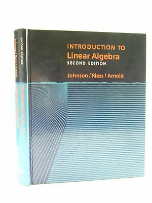 INTRODUCTION TO LINEAR ALGEBRA - Johnson, Lee W. & Riess, R. Dean & Arnold, Jimm