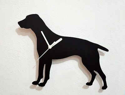 German Shorthaired Pointer Dog Silhouette - Wall Clock