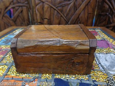 Sweet Rustic Hand Made Recycled Teak Box Container Unusual Rrp $25 W/sale Store
