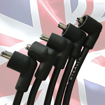 Stealth Black RACE Quality 8mm HT leads for MGB