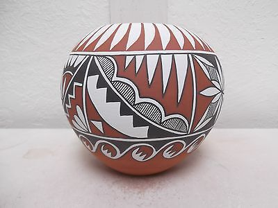 Hand Coiled Jemez Pottery Native American Indian Pueblo by Mary Small