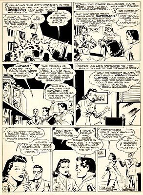 Shuster Studio GOLDEN AGE SUPERMAN PG 12 Original Art (1944)