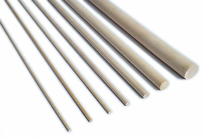 15cm, 30cm or 60cm Birch Hardwood Dowel / Craft Sticks - Diameters 6 - 25mm