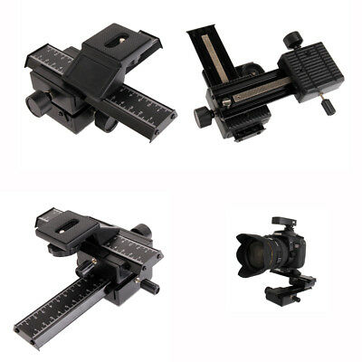 SLITTA 4 VIE MACRO FOTO VIDEO 4 Way Macro Focus Rail Slider Tripod Ball Head