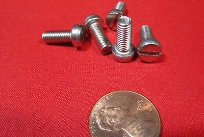 Stainless Cheese Head Slotted Metric Machine Screw M5 x 12 mm Length, 100 pcs