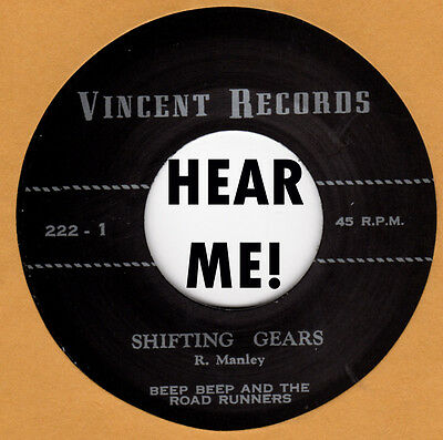 GARAGE REPRO:  BEEP BEEP & ROADRUNNERS-True Love Knows/Shifting Gears VINCENT